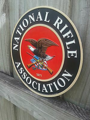 National Rifle Association Embossed Metal Sign With Raised Letters  10 By10 Inch