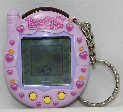 2004 Tamagotchi Connection Pink Purple Hearts Wings Halo Love V3