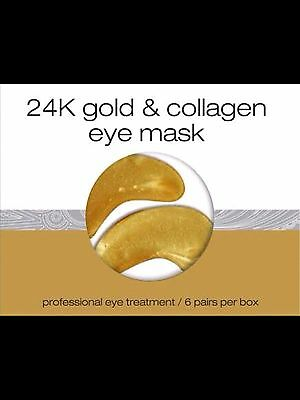LONVITALITE 24k gold collagen eye mask- dark circles/puffy/fine lines 6 pk