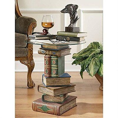Stacked Book Sculpture End Table   Vintage Antique Home Decor U0026 Furniture  Chess