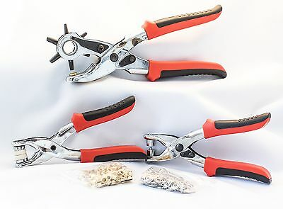 Signature Handtools Hole Punch Eyelet and Press Stud Plier Set
