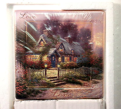 Thomas Kinkade TEACUP COTTAGE Collector Plate - Foundations of Family - Bradford