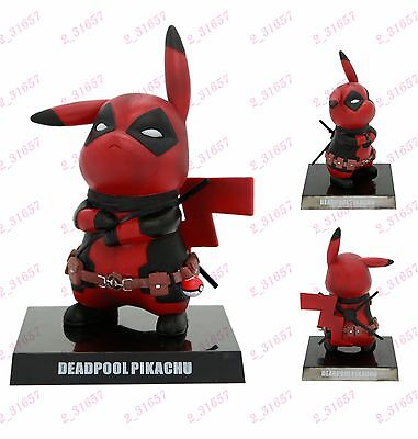 "Pokemon Pikachu Cosplay Deadpool 6"" PVC Figure statue Anime toy Gift Hero nobox"