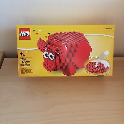 Lego Red Piggy Coin Bank/money Box 40155 - New/boxed Set/sealed