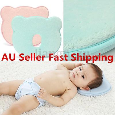 Newborn Baby Infant Pillow Memory Foam Support Neck Prevent Flat Head Anti Roll