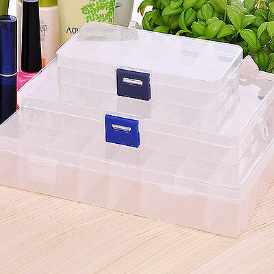 Plastic Storage Box Compartment Organiser - Fishing Tackle Beads Jewellery DIY
