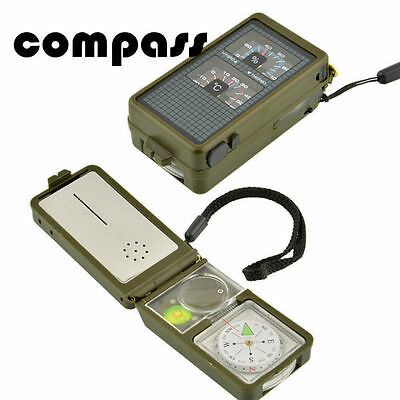 Kit Hot 10 in 1 Multifunction  Hiking Compass Tool  Outdoor Military Camping
