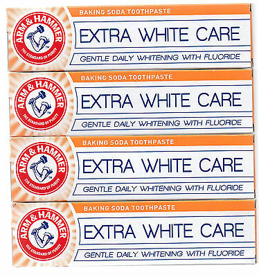 x6 Tubes of Arm & Hammer Extra White Care Toothpaste with Free Post and Packing