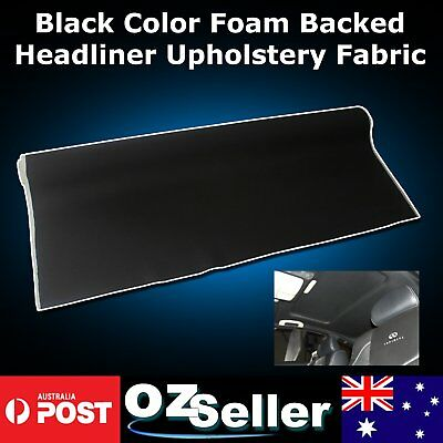 Black Color Auto Headliner Upholstery Fabric Material With Foam Backing 1.51x 1M