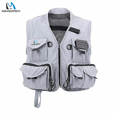 Maxcatch Hyfly Lightweight Mesh Multi-pocket Fly Fishing Vest Size M/L