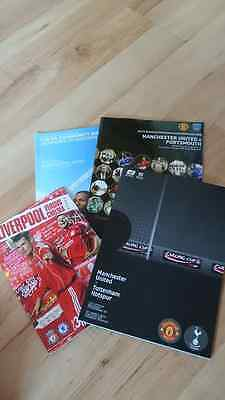 4 x big match football programmes includes Carling final and community shield