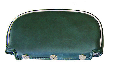 Lambretta and vespa Universal Backrest Pad Green with White Piping