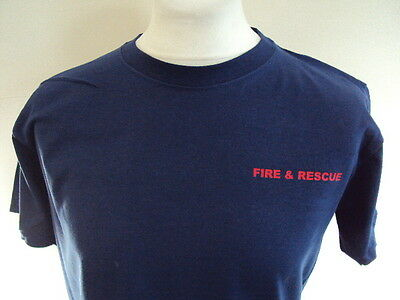 Fire & Rescue Small Red Print - Ukfrs - Fire Brigade Printed