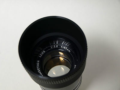 Elmo projection  Lens 2,8/ 85, Glass and metal, high-quality lens