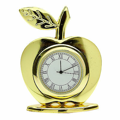 Decorative Apple Clock Stainless Steel Table Office Dacor Gift Watch CD1326B