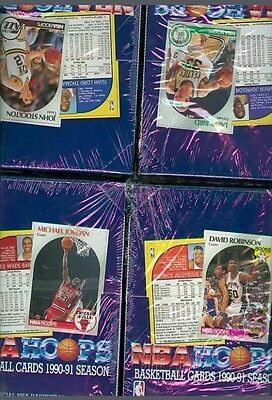 HOOPS basketball nba BOX 1990-1991 COLLECTOR vintage 36 pack paquet × 15 cartes