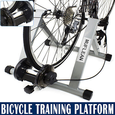New Indoor Bicycle Bike Cycle Fan Fly wind wheel Foldable Turbo Trainer Silver