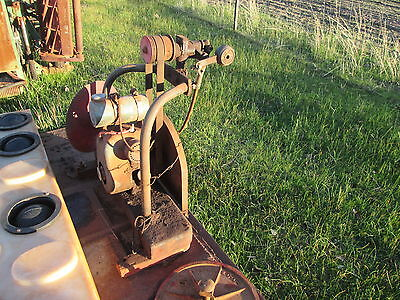 Old stationary engine and shearing plant and grinder lister