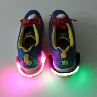 React LED Shoe Clips – PAIR of Blue, Green or Pink super bright LED lights.