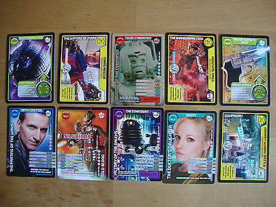 10 Doctor Who Trading Cards Lot 24