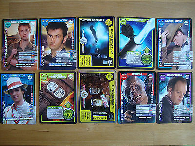 10 Doctor Who Trading Cards Lot 9
