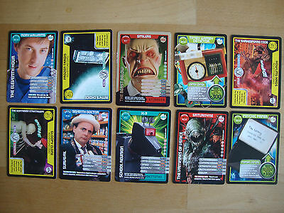 10 Doctor Who Trading Cards Lot 22