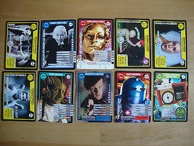 10 Doctor Who Trading Cards Lot 28