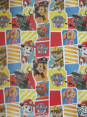 x/large 1m sheet paw patrol gift wrapping paper -birthday