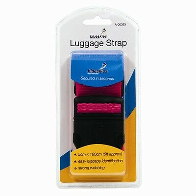 Luggage Suitcase Straps Heavy Duty Snap Buckle 1.8 Metres Neon easy spot Band