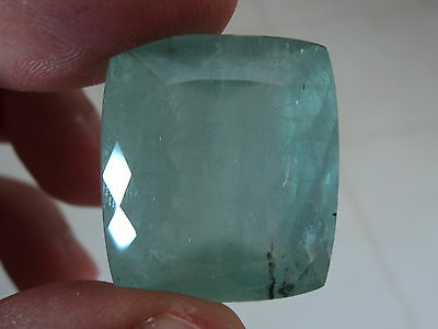 Big Natural Earth Mined Aquamarine Cushion 84.5 Cts