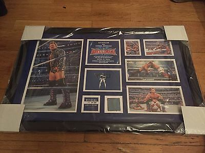 WWE Wrestlemania 32 Commemorative Plaque Signed by Chris Jericho Y2J