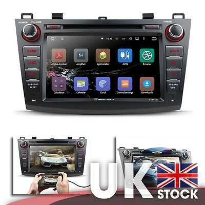 """Android 5.1.1 8"""" Car DVD GPS w  Mutual Control EasyConnection for Mazda 3 10-13"""