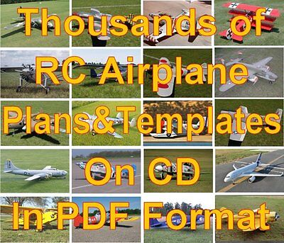 500+ Giant Scale RC Airplane Plans & Templates on CD in PDF Format.