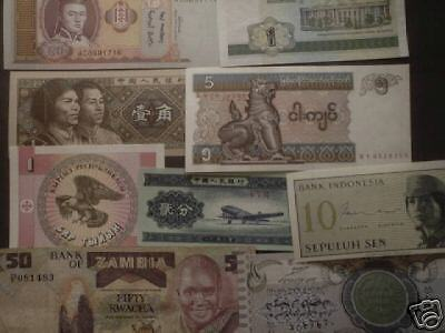 World paper money; lot of 25 different- most Unc.