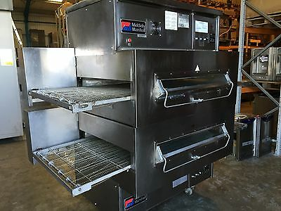 Middleby Marshall Ps360G Gas Double 32 Inch Conveyor Pizza Ovens