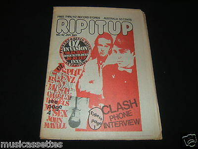 Rip It Up Magazine New Zealand Jan 1981 #42 The Clash Flowers Icehouse Inxs