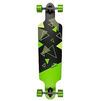 D-Street Polygon Tri Drop-Through Longboard - Green