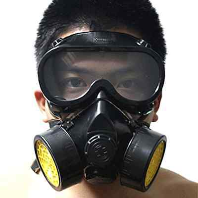 Safety Goggles Gas Mask Respirator Filter Paint Chemical Industrial Anti Dust