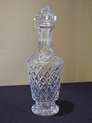 Antique Waterford Crystal Footed Maeve Cut Decanter,