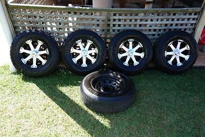 4 x American Series06 Wheels with practically new Bridgestone Duel tyres + spare
