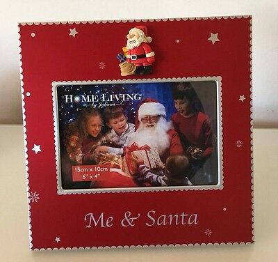 - New - Me & Santa Glass Photo Frame