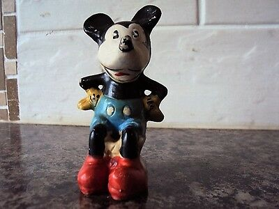 Very Rare Vintage Wade Heath Mickey Mouse Figure 1935  good condition
