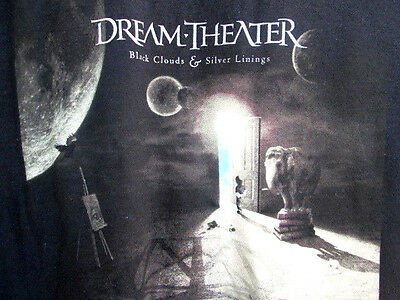 DREAM THEATER..BLACK CLOUDS & SILVER LININGS TOUR..CONCERT..T-SHIRT..NEW..sz XL