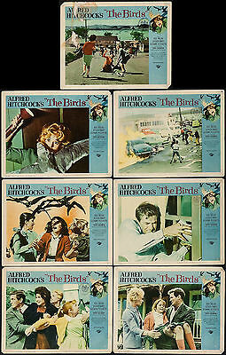 """Poster Lobby Cards The Birds 1963 11""""x14"""" Fine 5.5 Hitchcock"""