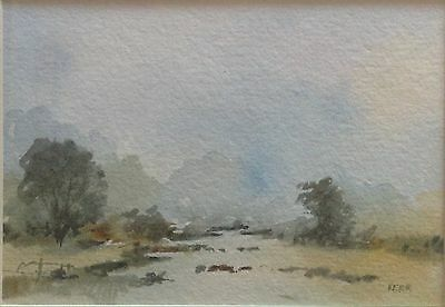 Original Irish Art Watercolour Painting Picture Irish Landscape By Tom Kerr