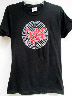 SOAD...SYSTEM OF A DOWN...LADIES...BLACK...T-SHIRT...NWOT...sz S