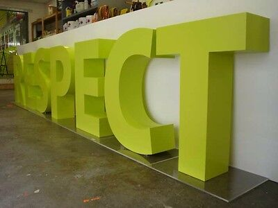 3D shop lettering, acrylic letters, any font or colour, perspex letters signs