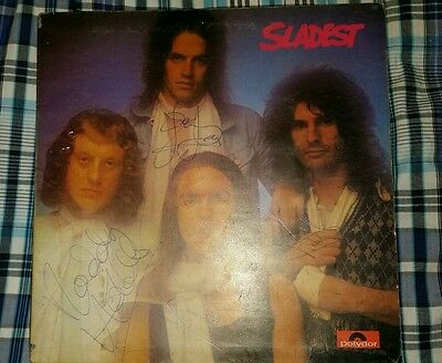 Slade hand signed LP Sladest by Dave Hill, Don Powell, Noddy Holder and Jim Lea