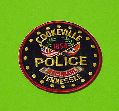 Cookeville  Tennessee  1854  Tn  Police Patch   Free Shipping!!!