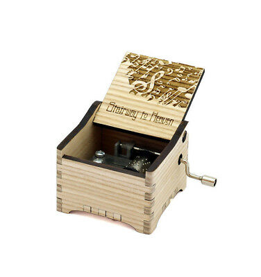Personalized Hand Crank Wooden Music Box (Led Zeppelin - Stairway to Heaven